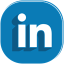 media, network, Connection, Social, Linkedin DarkCyan icon