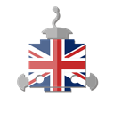 robot, telegram, bot, united kingdom, uk, flag Black icon