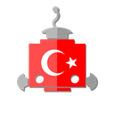 turkey, flag, bot, Tr, telegram, robot Black icon