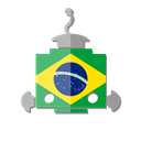 flag, telegram, robot, brazil, bot, Br Black icon