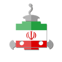 iran, Ir, bot, flag, telegram, robot Black icon