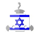 bot, Il, Israel, robot, telegram, flag Black icon