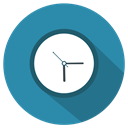 Clock, watch, time SteelBlue icon