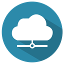 Cloud, cloud devices, cloud share, skyshare SteelBlue icon