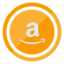 store, shopping, Amazon Orange icon