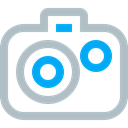 Camera, image, picture, gallery, photos, photo, photography Silver icon