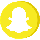 Social, media, Communication, Snapchat, network Gold icon