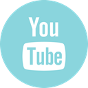 Social, youtube, online, media SkyBlue icon