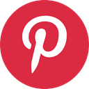 Social, media, online, pinterest Crimson icon