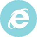 media, online, Social, internet, Explorer SkyBlue icon