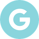 Social, google, media, online, engine SkyBlue icon