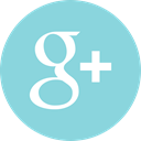 Social, media, google, plus, online SkyBlue icon