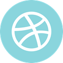 dribbble, media, online, Social SkyBlue icon