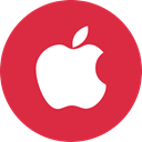 Apple, Social, online, media Crimson icon