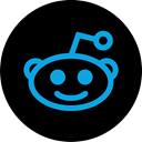 online, Social, media, Reddit Black icon