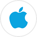 media, online, Social, Apple DodgerBlue icon