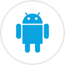 Android, media, online, Social DodgerBlue icon