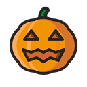 halloween, monster, scary, jack o'lantern, pumpkin, horror Black icon