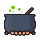 horror, scary, pot, witch, potion, halloween DarkSlateGray icon