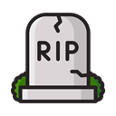 halloween, death, graveyard, Dead, Cemetery, scary, grave Black icon