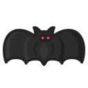 halloween, vampire, monster, bat, horror, scary Black icon