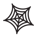 horror, halloween, web, spider, scary Black icon