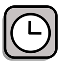 Calendar, watch, timer, Schedule, Clock, Alert, Alarm Silver icon