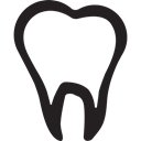 Teeth, stomatology, dental, tooth, Dentist Black icon