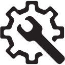 Options, tools, preferences, tool, Working, settings Black icon
