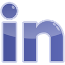 Linkedin, Social, media, In LightSteelBlue icon