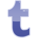 Tumblr, Social, t, media DarkSlateBlue icon
