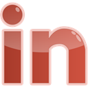 Linkedin, In, Social, media IndianRed icon