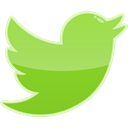 twitter, Social, bird, media YellowGreen icon