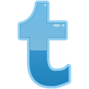 t, Social, Tumblr, media SkyBlue icon