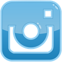 Instagram, media, Social, photo SkyBlue icon