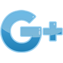 media, Social, Google+ SkyBlue icon