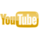 youtube, Social, media, video Khaki icon