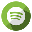 Communication, Multimedia, music, Social, media, Spotify, internet YellowGreen icon