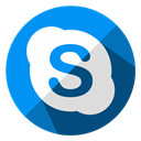 media, Communication, internet, Chat, Skype, Social, web DodgerBlue icon