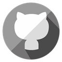 Communication, Social, Connection, network, media, internet, Github DarkGray icon