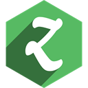 Hexagon, Social, Shadow, zootool, media MediumSeaGreen icon