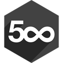 Shadow, pixel, media, Social, Hexagon, 500 DarkSlateGray icon