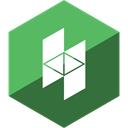 houzz, Gloss, media, Hexagon, Social MediumSeaGreen icon
