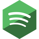 media, Social, Gloss, Spotify, Hexagon DarkOliveGreen icon