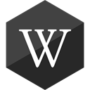 media, Hexagon, Gloss, wikipedia, Social DarkSlateGray icon