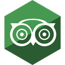 Advisor, Social, Gloss, Hexagon, media, trip SeaGreen icon