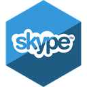media, Hexagon, Social, Skype, Gloss Teal icon
