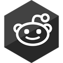 media, Gloss, Hexagon, Reddit, Social DarkSlateGray icon