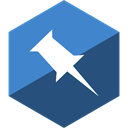 Social, Gloss, Hexagon, pinboard, media DarkSlateBlue icon