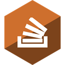 Gloss, Social, media, Hexagon, stackoverflow Chocolate icon